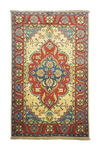 Geometric Wool Rug Tribal 5'15x3'18 Hand knotted  carpet  Royal kazak
