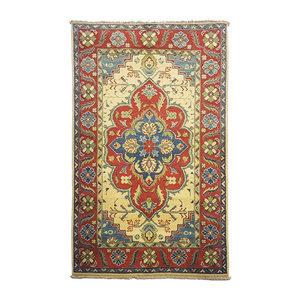 Geometric Wool Rug Tribal 5'15x3'18 Hand knotted  carpet  Royal kazak