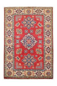 Geometric Tribal Wool Red Rug 4'79x3'24 Hand knotted  carpet  Royal kazak