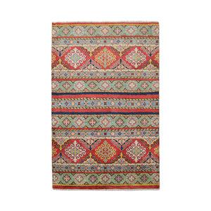 Tribal Hand knotted  carpet  Royal kazak 4'85x3'24 Traditional Wool Rug