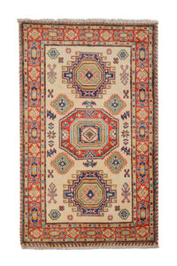 Tribal Hand knotted  carpet  Royal kazak 5'05x3'24 Traditional Wool Rug