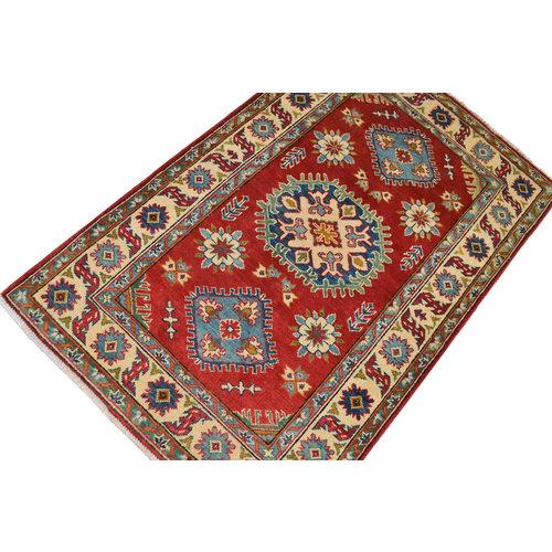 Handgeknoopt Royal Rood  kazak tapijt 152x98 cm vloerkleed Traditional