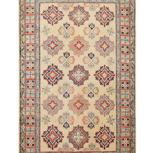 Geometric Wool Rug Tribal 5'05x3'21 Hand knotted  carpet  Royal kazak