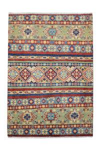 Traditional Wool Rug Tribal 4'72x3'34 Hand knotted  carpet  Royal kazak