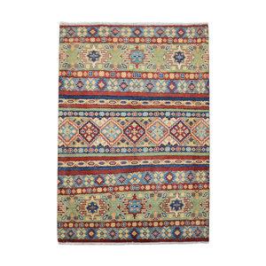 Handgeknoopt Royal  kazak tapijt 144x102 cm   vloerkleed Traditional