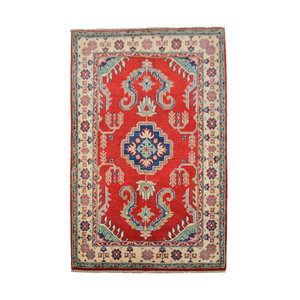Traditional Wool Red Rug Tribal 5'08x3'28 Hand knotted  carpet  Royal kazak