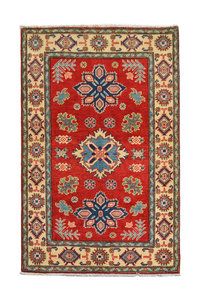 Traditional Wool Red Rug Tribal 5'18x3'24 Hand knotted  carpet  Royal kazak