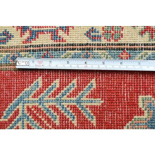 Handgeknoopt Royal Rood  kazak tapijt 158x99 cm vloerkleed Traditional