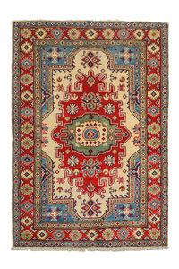 Traditional Wool Rug Tribal 5'05x3'41 Hand knotted  carpet  Royal kazak