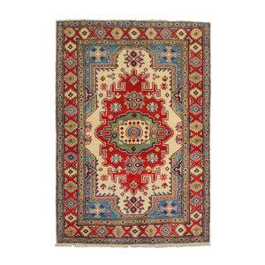 Traditional Wool Rug Tribal 5'05x3'41 Hand knotted  carpet  Royal kazak