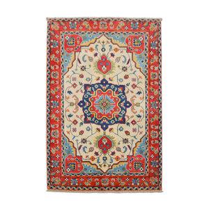 Quality Geometric Wool Rug Tribal 4'88x3'31 Hand knotted  carpet  Royal kazak