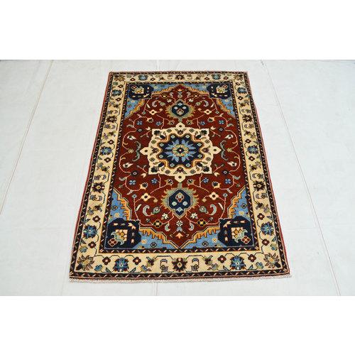 Handgeknoopt Royal Rood kazak tapijt 151x104 cm   vloerkleed Traditional