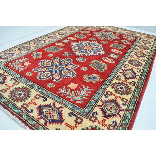 Oriental Wool Red Rug Tribal 4'98x3'37 Hand knotted  carpet  Royal kazak