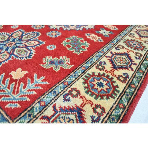 Handgeknoopt Royal Rood kazak tapijt 152x103 cm   vloerkleed Traditional