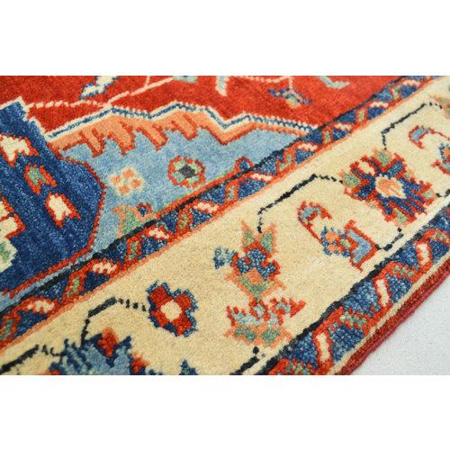 Handgeknoopt Royal Rood kazak tapijt 145x103 cm vloerkleed Traditional