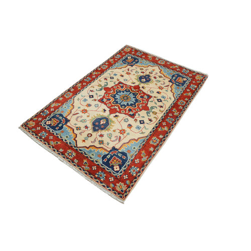 Handgeknoopt Royal kazak tapijt 156x105 cm vloerkleed Traditional