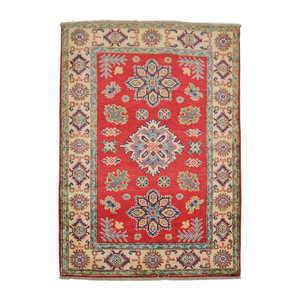 Quality Hand knotted  carpet  Royal kazak Red 4'72x3'18 Traditional Wool Rug