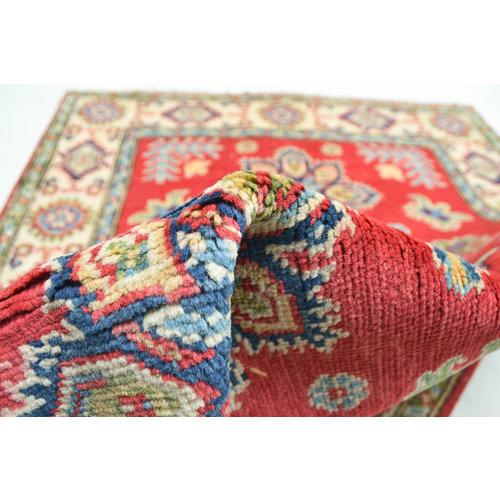 Handgeknoopt Royal Rood kazak tapijt 144x97 cm  vloerkleed Traditional