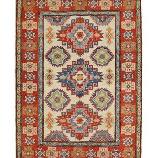 Quality Wool Rug Tribal 4'88x3'37 Hand knotted carpet Royal kazak