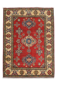 Quality Hand knotted  carpet  Royal kazak Red 4'79x3'21 Traditional Wool Rug