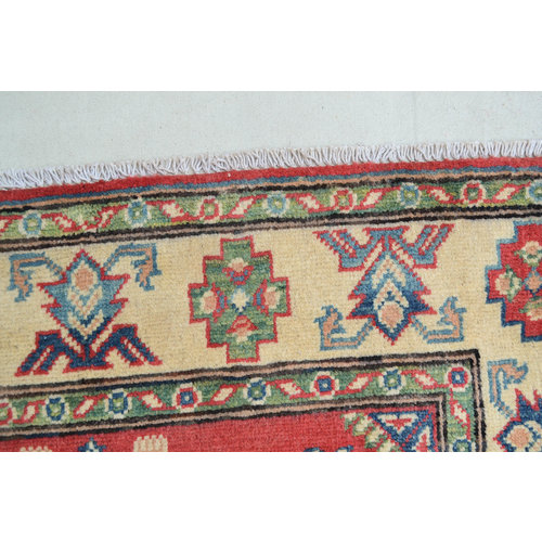 Handgeknoopt Royal Rood kazak tapijt 146x98 cm  vloerkleed Traditional