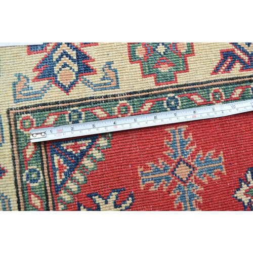 QualityHand knotted  carpet  Royal kazak Red 4'79x3'21 Traditional Wool Rug