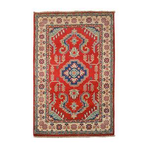 Handgeknoopt Royal Rood kazak tapijt 153x95 cm   vloerkleed Traditional