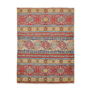 Handgeknoopt Royal  kazak tapijt 136x98 cm  vloerkleed Traditional