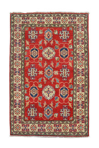 Traditional Wool Red Rug Tribal 5'54x3'21 Hand knotted  carpet  Royal kazak