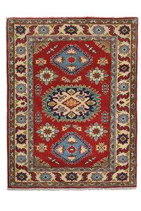 Quality Wool Red Rug Tribal 4'85x3'28 Hand knotted  carpet  Royal kazak