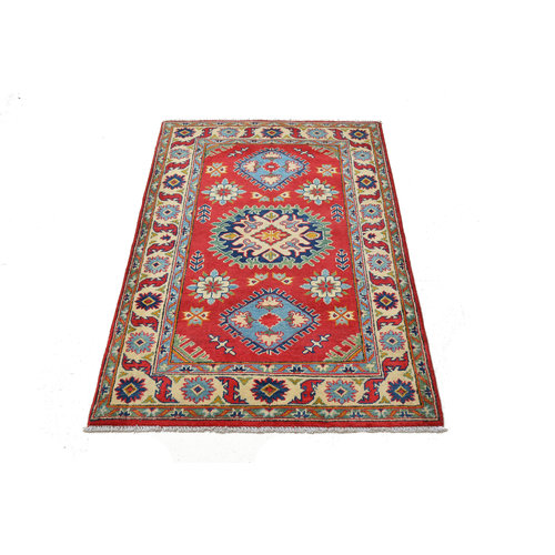 Handgeknüpft wolle kazak Rod teppich 148x100 cm Orientalisch  teppich