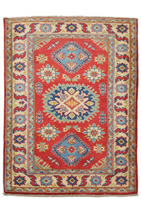 Quality Wool Red Rug Tribal 4'82x3'28 Hand knotted  carpet  Royal kazak