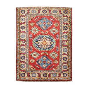 Handgeknoopt Royal Rood  kazak tapijt 147x100 cm vloerkleed Traditional