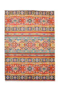 Quality Wool Rug Tribal 5'01x3'24 Hand knotted carpet Royal kazak