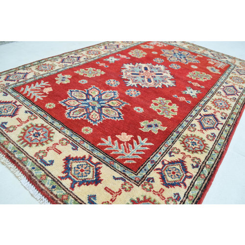Quality Wool Red Rug Tribal 5'01x3'28  Hand knotted carpet  Royal kazak