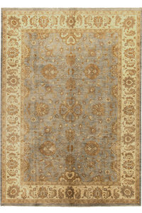 Handgeknoopt ziegler tapijt 345x272 cm Oushak fijne tapijt