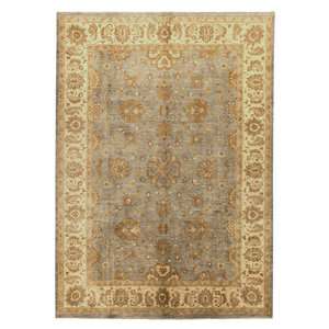 Farahan ushak Hand knotted 11'31x8'92  ziegler carpet oushak  fine Rug traditional