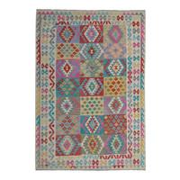 8'20X5'90 Multi color Hand woven wool kilim Carpet Kelim Rug 250X180 cm