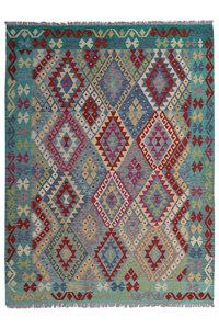 7'87X5'90 Geometric Hand woven wool kilim Carpet Kelim Rug 240X180 cm