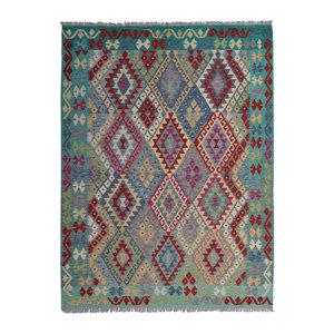Kelim Kleed 240X180 cm Vloerkleed Tapijt Kelims Hand Geweven