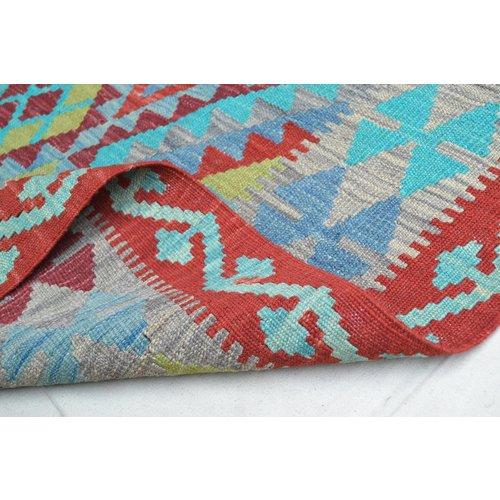 8'00X5'54 Afgan Geometric Hand woven wool kilim Carpet Kelim Rug 244X169 cm