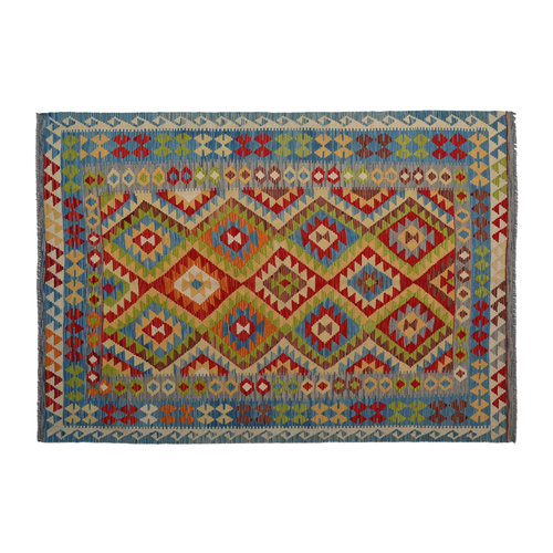 8'20X5'70 Afgan Geometric Hand woven wool kilim Carpet Kelim Rug 250X174  cm