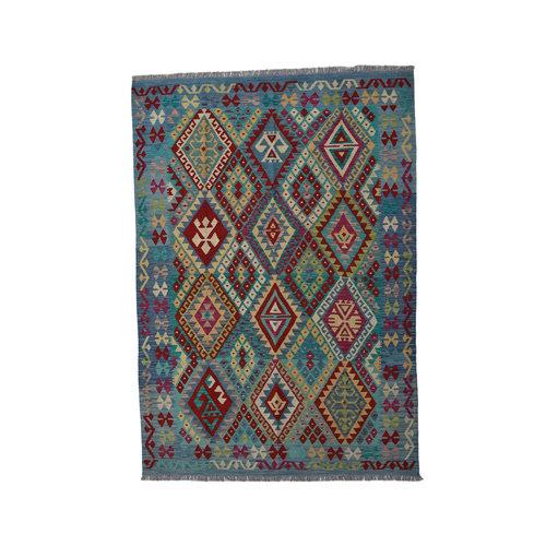 Kelim Kleed 252X177  cm Vloerkleed Tapijt Kelims Hand Geweven