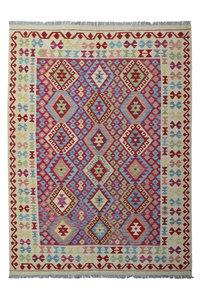 Quality Multi Colour 8'03X5'87 Hand woven wool kilim Carpet Kelim Rug 245X179 cm