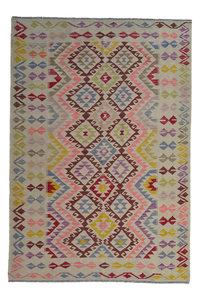 Quality Multi Colour 8'03X5'61 Hand woven wool kilim Carpet Kelim Rug 245X171 cm
