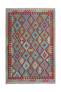 Multi Colour 8'20X5'44 Hand woven wool kilim Carpet Kelim Rug 250X166 cm