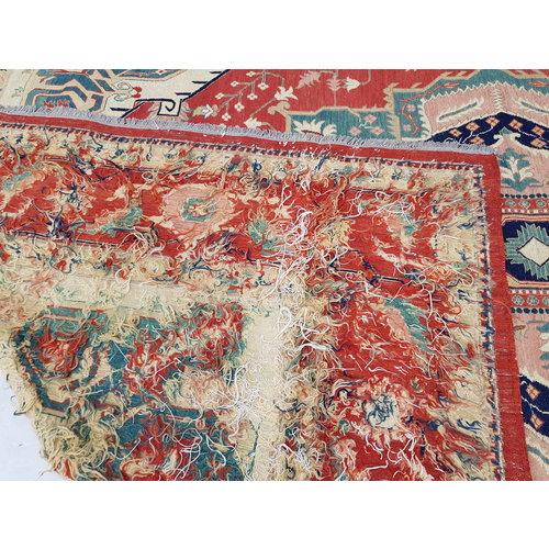 QualityHandmade 13'54 X 10'03 Red Sumak Kilim Area Rug Weave 413X306 cm