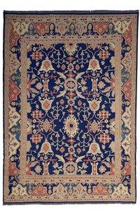 Oriental Handmade Blue 12'82 X 9'71  Sumak Kilim Area Rug wool