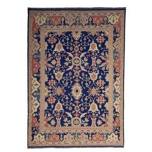 Qualität Blau Handgewebt Sumak Kelim Teppich 391X296 cm