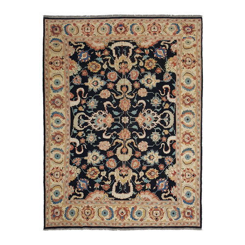 Stylish Multi Colour Handmade 11'05 X 8'75 Sumak Kilim Area Rug 337X267 cm